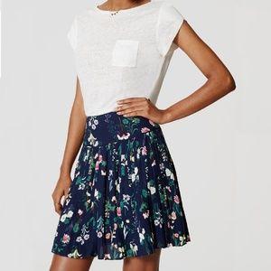 $69 Ann Taylor LOFT Valley Floral Pleated Skirt 2